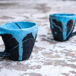 Keraminiai Raku puodeliai