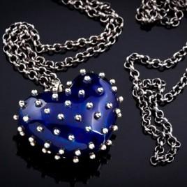 Pakabukas Širdelė dekoruota metalu