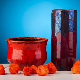 Rankų darbo indai – vazos, vazonėliai