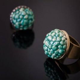 Žalvarinis žiedas su burbuliukais Gervuogė