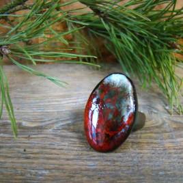 Masyvus keraminis žiedas