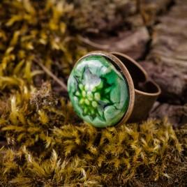 Žalias keraminis žiedas