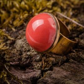 Raudonas keraminis žiedas