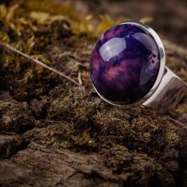 Violetinis keraminis žiedas