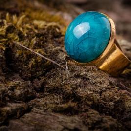 Žydras keraminis žiedas