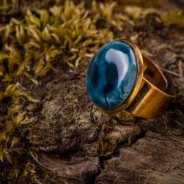 Mėlynas keraminis žiedas